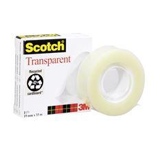Scotch 550 Taśma biurowa przezroczysta 19 mm x 33 m 4 sztuki