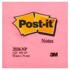 Post-it Kostka samoprzylepna różowa 450 kartek 76x76 mm
