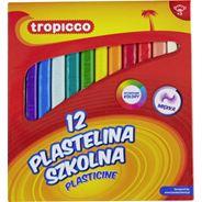 Tropicco Plastelina szkolna 12 kolorów