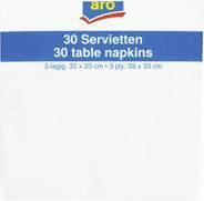 ARO Serwetki kwadratowe białe 33x33 cm 30 sztuk