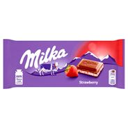 Milka Czekolada mleczna Strawberry 100 g 5 sztuk