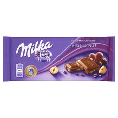 Milka Czekolada Raisin and Nuts 100 g 5 sztuk