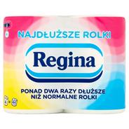 Regina Najdłuższe Rolki Dwuwarstwowy Papier toaletowy 4 rolki 20 sztuk