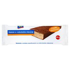Aro Wafelek w czekoladzie mlecznej o smaku waniliowym 40 g 20 sztuk