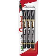 Pentel Marker permanentny N850 czarny 3 sztuki
