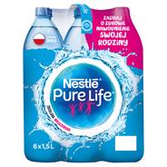 Nestlé Pure Life Niegazowana woda źródlana 1,5 l 6 sztuk