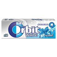 Orbit White Fresh Mint Guma do żucia bez cukru 14 g (10 drażetek) 30 sztuk