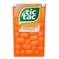 Tic Tac Orange Drażetki o smaku pomarańczowym 18 g 24 sztuki
