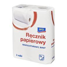 Aro Ręcznik papierowy makulaturowy 2-warstwowy 16 x 2 rolki
