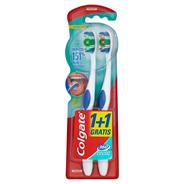 Colgate 360° Whole Mouth Clean Szczoteczka do zębów średnia 2 sztuki