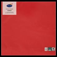 Duni Serwetki kwadratowe czerwone 40,5x40,6 cm 12 sztuk
