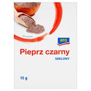 Aro Pieprz czarny mielony 15 g 10 sztuk