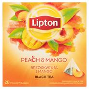 Lipton Herbata czarna aromatyzowana brzoskwinia i mango 36 g (20 torebek)