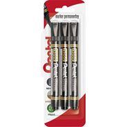 Pentel Marker permanentny N860 czarny 3 sztuki