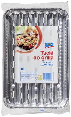 Aro Tacki do grilla aluminiowe 8 sztuk
