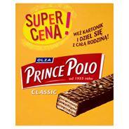 Olza Prince Polo Classic Kruche wafelki z kremem kakaowym oblane czekoladą 28 x 18 g