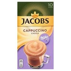 Jacobs Cappuccino Specials Milka Rozpuszczalny napój kawowy o smaku czekolady 180 g (10 saszetek)