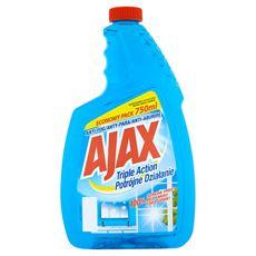 Ajax Potrójne Działanie Płyn do szyb Zapas 750 ml