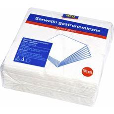 ARO Serwetki kwadratowe białe 33x33 cm 500 sztuk