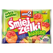 nimm2 Śmiejżelki kwaśne Żelki owocowe wzbogacone witaminami 100 g