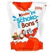 Kinder Schoko-Bons Smakołyk z mlecznym i orzechowym nadzieniem oblany mleczną czekoladą 200 g