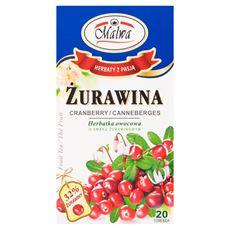 Malwa Żurawina Herbatka owocowo-ziołowa 40 g (20 torebek)
