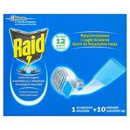 Raid Przeciw komarom Elektrofumigator owadobójczy z wkładkami Urządzenie i 10 wkładek