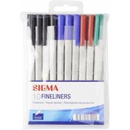 Sigma Cienkopis mix kolorów 10 sztuk