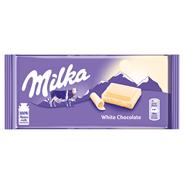 Milka White Chocolate Czekolada 100 g 5 sztuk