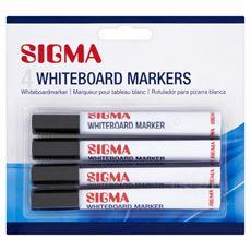 Sigma Markery do tablic suchościeralnych czarne 4 sztuki