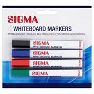 Sigma Marker do tablic suchościeralnych różnokolorowe 4 sztuki