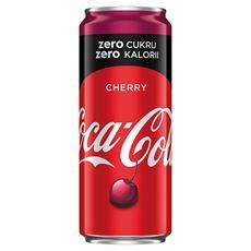 Coca-Cola zero Cherry Napój gazowany 330 ml 24 sztuki