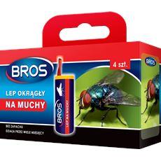 Bros Lep okrągły na muchy , 1 opakowanie: 4 sztuki