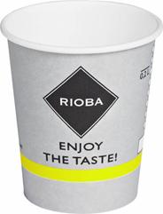 Rioba Kubki papierowe do gorących napojów 200 ml 50 sztuk