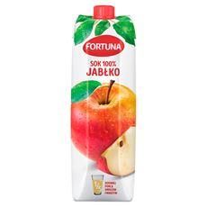 Fortuna Jabłko Sok 100% 1 l 6 sztuk karton