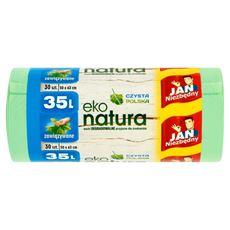Jan Niezbędny Eko natura Worki degradowalne 35 l 30 sztuk