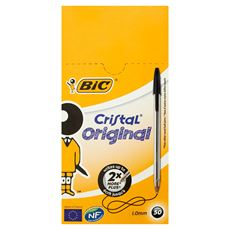 Bic Cristal Original Długopis czarny 50 sztuk