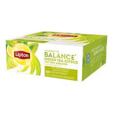 Lipton Herbata zielona aromatyzowana ze skórkami owoców cytrusowych 130 g (100 x 1,3 g)