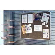 Post-it Tablica samoprzylepna informacyjna w aluminiowej ramce brązowa 60x90 cm