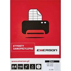 Emerson Etykiety samoprzylepne 297 x 210mm 100 arkuszy