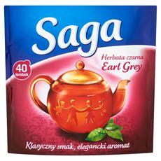 Saga Earl Grey Herbata czarna 60 g (40 torebek)