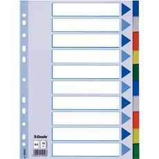 Esselte Przekładki plastikowe mix kolorów A4 5 sztuk