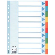 Esselte Przekładki kartonowe z kartą opisową różne kolory A4 10 sztuk