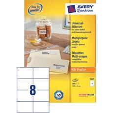 Avery Zweckform 3427 Etykiety uniwersalne białe 105x74 mm 100 arkuszy