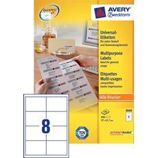 Avery Zweckform 3660 Etykiety uniwersalne białe 97x67,7 mm 100 arkuszy