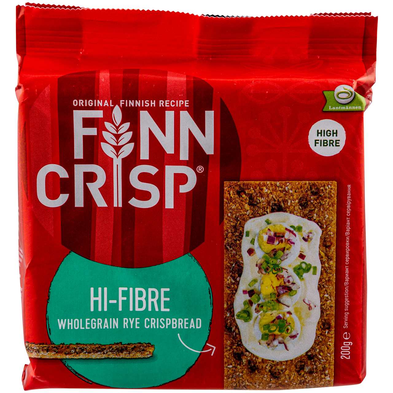 Хлібці Finn Crisp Hi-Fibre житні з висівками 200г