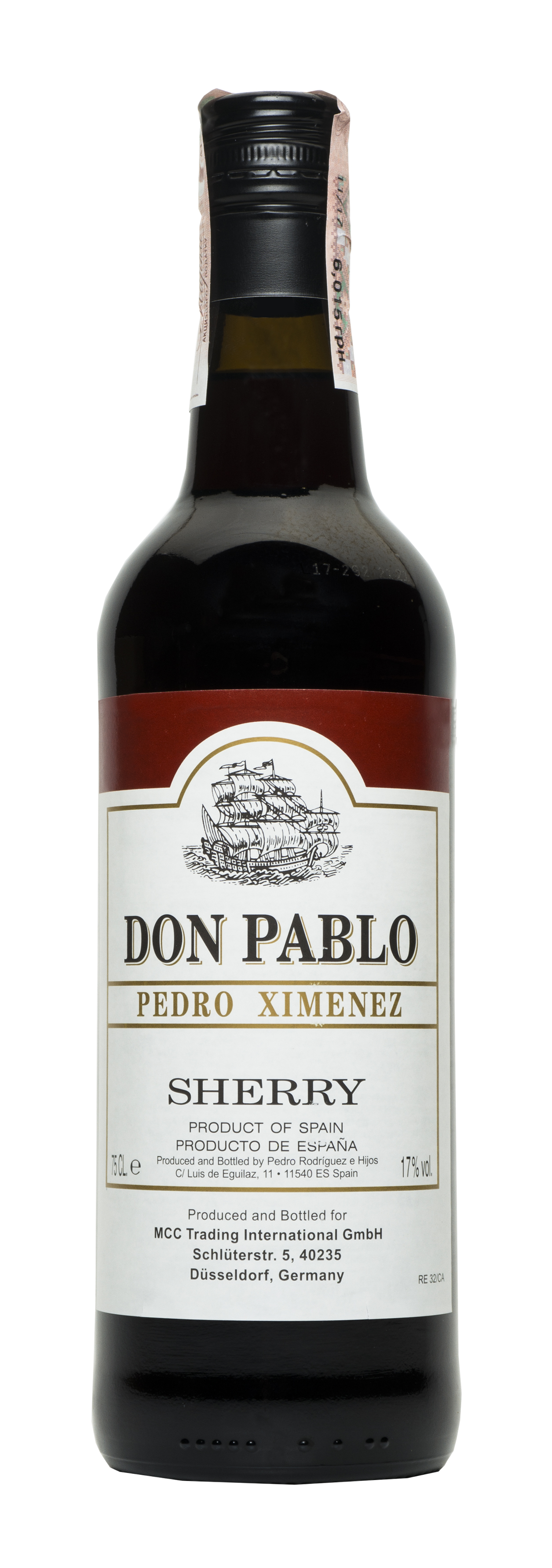 Вино кріплене Don Pablo Pedro Ximenez de PX біле 17% 0,75л