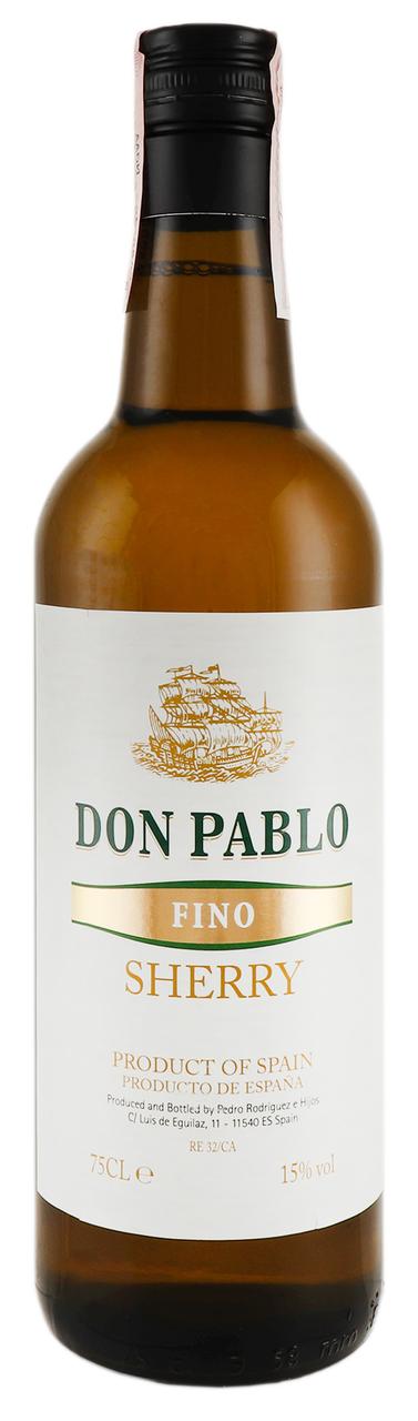 Вино кріплене Don Pablo Cherry Fino біле сухе 15% 0,75л