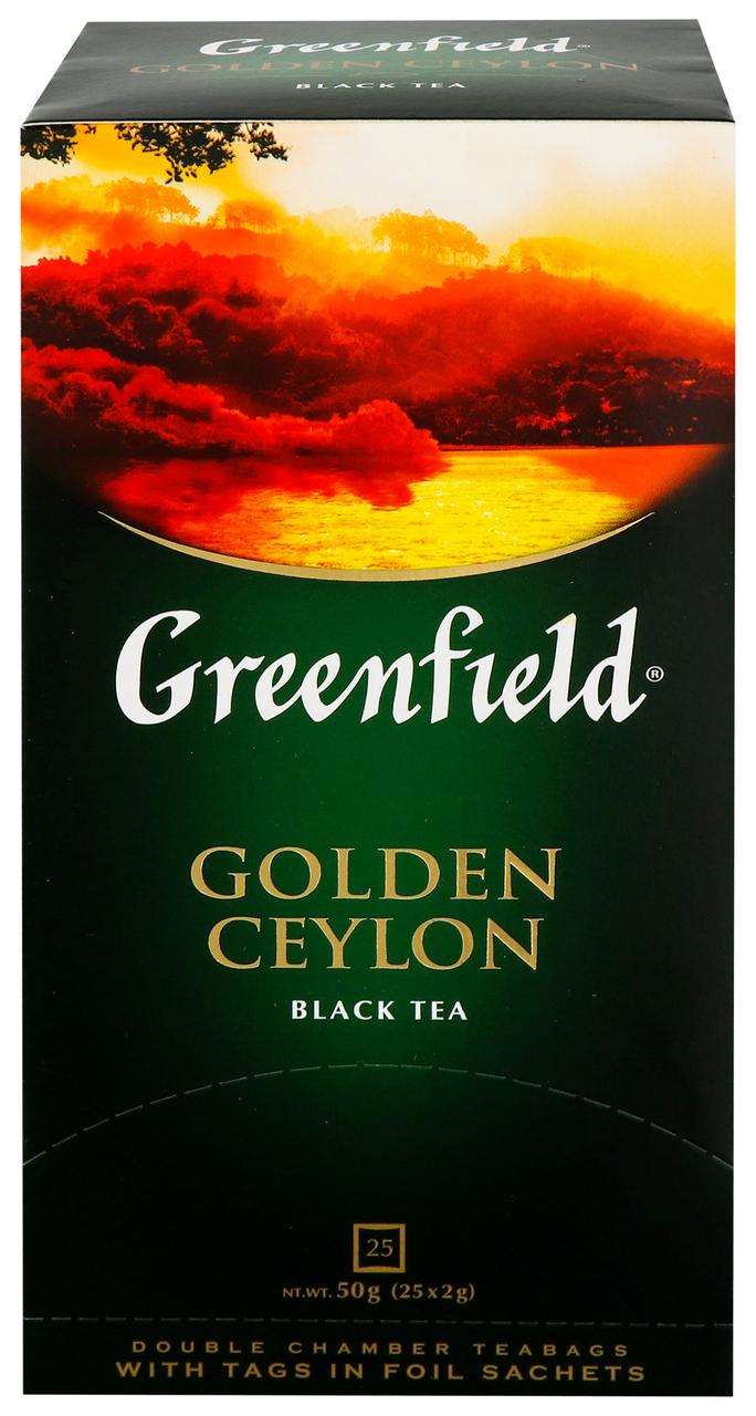 Чай Greenfield Golden Ceylon чорний цейл байх дрібн 25*2г/уп
