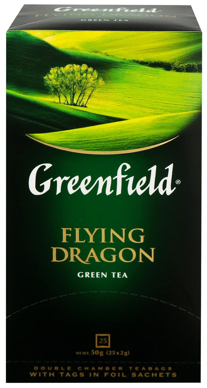 Чай Greenfield Flying Dragon зелений китайський 2г*25шт 50г